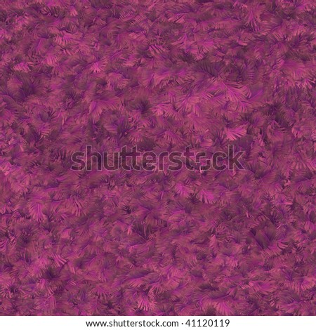 Seamless pattern tile of pink feathers - stock photo