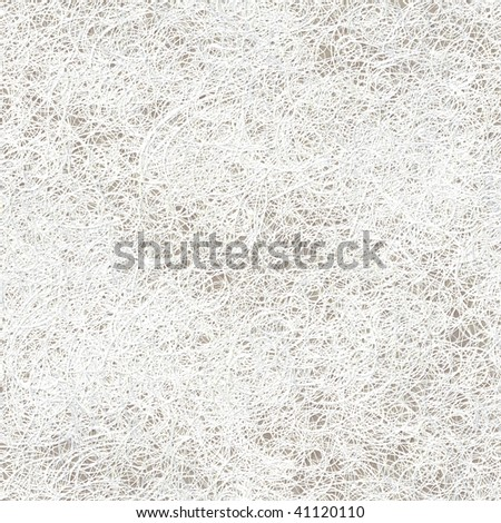 Seamless pattern tile of white strings against neutral background - stock photo