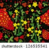seamless pattern. Traditional russian Hohloma - stock vector