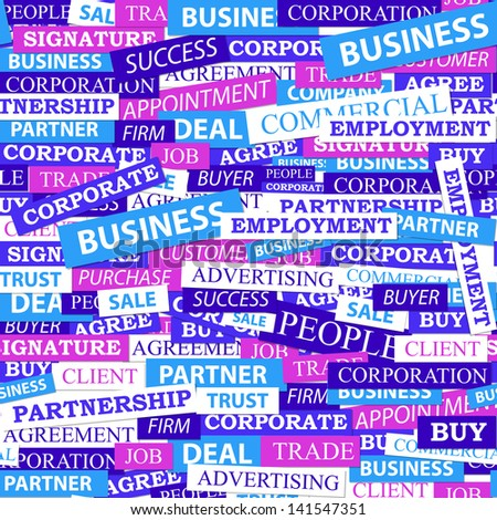 Seamless pattern, which is composed of words on business themes.  illustration. - stock photo