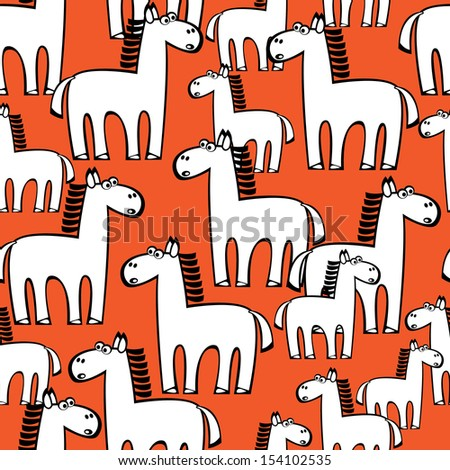 seamless pattern white horse