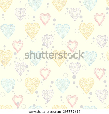 Seamless pattern with abstract hearts for web page site.Happy Valentines Day.Holiday background .Heart pattern.Hearts background