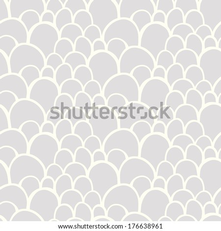 Seamless pattern with abstract stylized hand drawn scale texture - stock photo