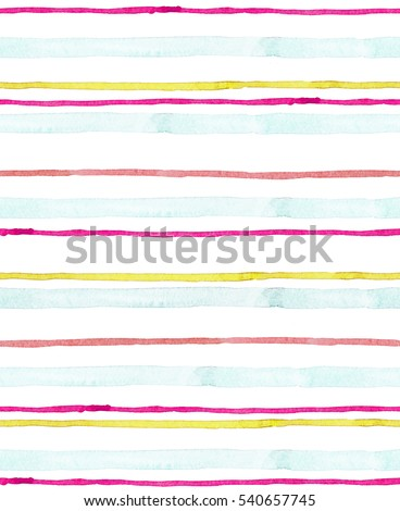 Seamless pattern with and drawn watercolor lines.