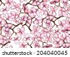 Seamless pattern with blossoming branch - stock vector
