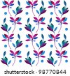 Seamless pattern with branches on a white background - stock vector