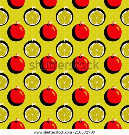 Seamless pattern with cartoon crazy oranges. Wallpaper. Endless texture. Fabric design. Wallpaper - raster version  - stock photo