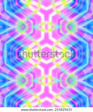 seamless pattern with central motif. glowing neon stripes in fluorescent colors.  - stock photo