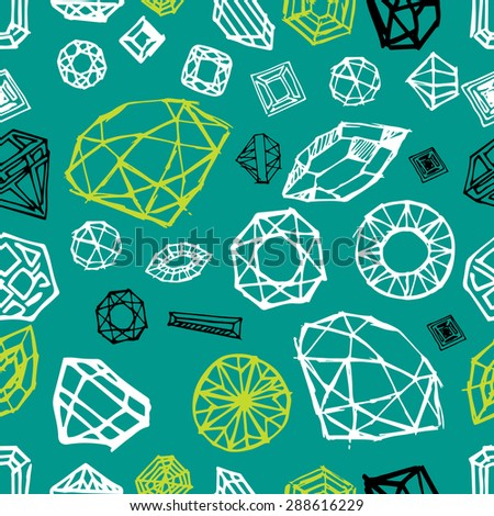 Seamless pattern with diamond design elements - cutting samples - stock photo