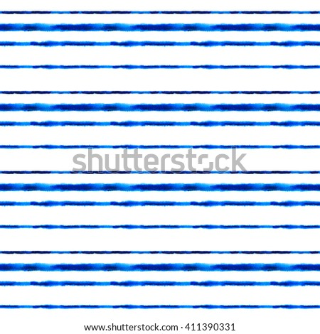 Seamless pattern with hand drawn watercolor stripes.Seamless pattern can be used for wallpaper, pattern fills, web page background, surface textures - stock photo