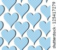 Seamless pattern with hearts polka-dot (raster version). Repeating texture. Cute background for the Valentine's Day - stock photo