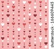 Seamless pattern with hearts. Raster version - stock vector