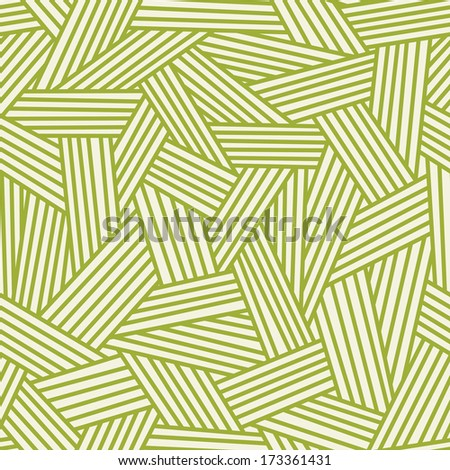Seamless pattern with interweaving of strokes. Traditional hatching of architectural hand drawn graphic. Ornamental simple illustration with stylized grass and other covering for print, web  - stock photo
