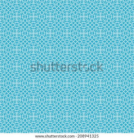 Seamless pattern with linear concentric circles. Abstract blue background for print and web