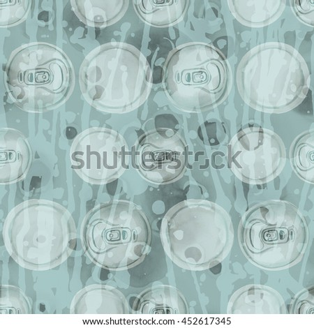 Seamless pattern with metal cans