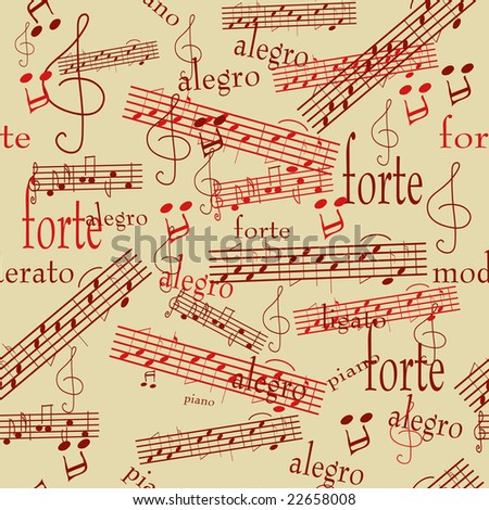 Seamless pattern with music notes. Vector version is in my portfolio