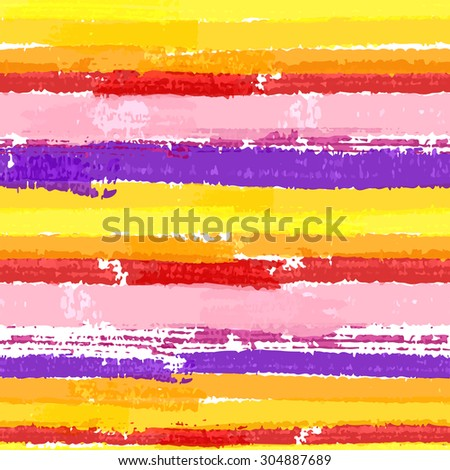 Seamless pattern with paint color stripes. Raster version