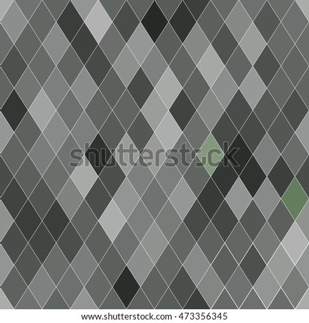 Seamless pattern with rhombs. Abstract gray texture. Geometrical background. Monochrome backdrop.