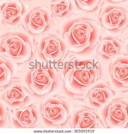 Seamless pattern with rose flowers for background design - stock photo