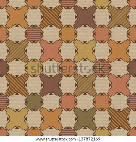 Seamless pattern with striped squares - stock photo