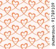 Seamless pattern with stylized hearts of ribbons. Romantic background Valentines Day's and wedding. For vector version see image id 91191953 - stock photo