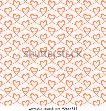 Seamless pattern with stylized hearts of ribbons. Romantic background Valentines Day's and wedding
