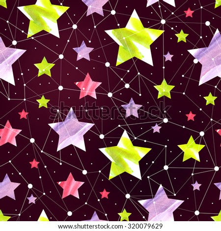 Seamless Space Pattern Stock Vector - Image: 61010229  Space Repeating Background Patterns