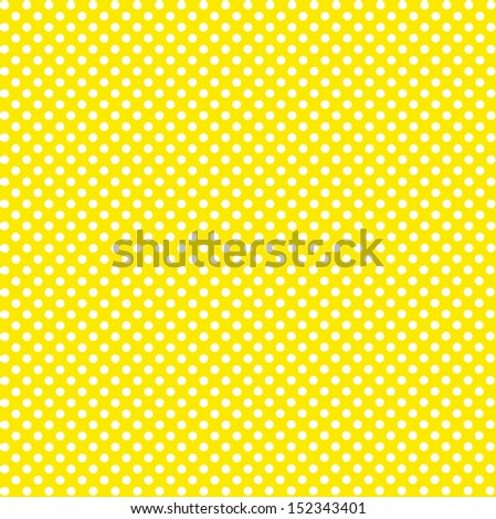 Seamless pattern with white polka dots on a yellow background - stock photo