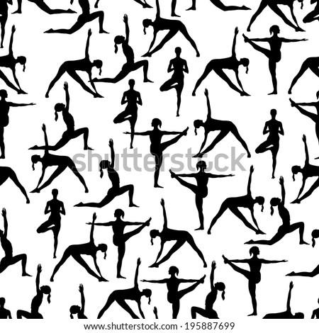 gymnastics silhouette vector stock vector 108148181