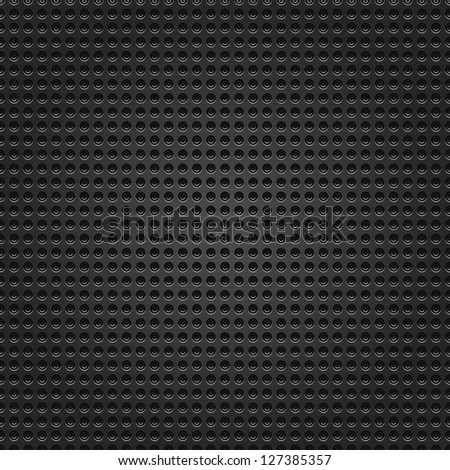 Seamless perforated black round dot texture metal surface dark gray background. This image for clip-art design element is a bitmap copy of my vector illustrations