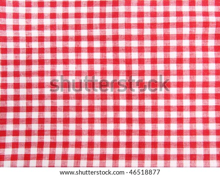 Seamless picnic table cloth, with red and white squares. Good as food background. - stock photo