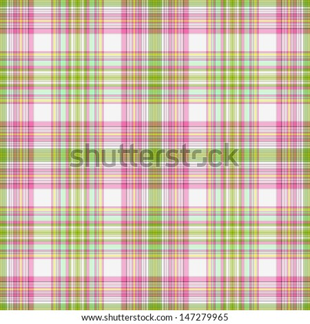 Seamless Pink, Green, & White Plaid
