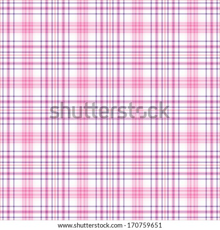Seamless Pink, Purple, & White Plaid