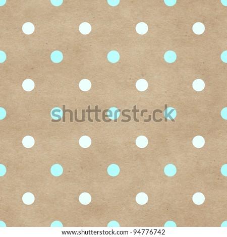 Seamless polka dots pattern - stock photo