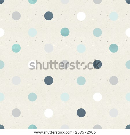 Seamless polka pattern on paper texture