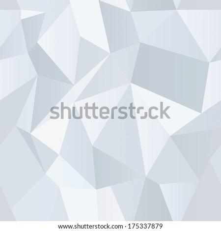 Seamless Polygonal Pattern, White Background, Texture, Illustration - stock photo