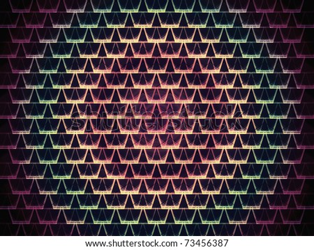 seamless purple abstract vortex under white graphic cell shapes with low contrast - stock photo