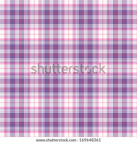 Seamless Purple, Pink, & White Plaid