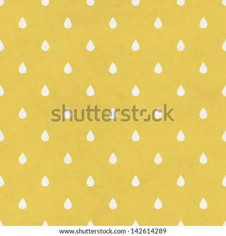 Seamless raindrops pattern on paper texture. Basic shapes backgrounds collection - stock photo