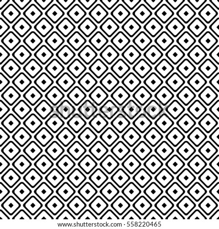 Seamless raster geometrical pattern. Endless black and white background with hand drawn squares. Graphic illustration. Print for cover, fabric, wrapping, background..