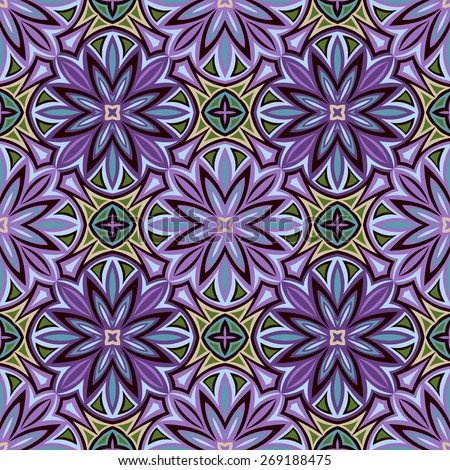 seamless raster pattern: detailed persian ornament - stock photo