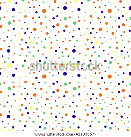 Seamless raster  pattern with dots. Colorful background.