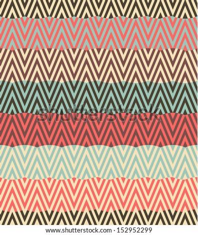Seamless raster wave geometric rhombus color pattern background - stock photo