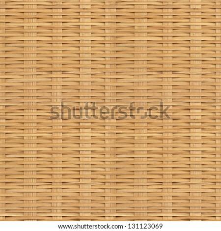 Seamless rattan texture, pattern, background. Basket texture - stock photo
