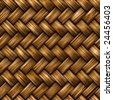 Seamless rattan weave background macro image - stock vector