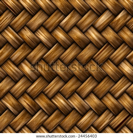 Seamless rattan weave background macro image - stock photo