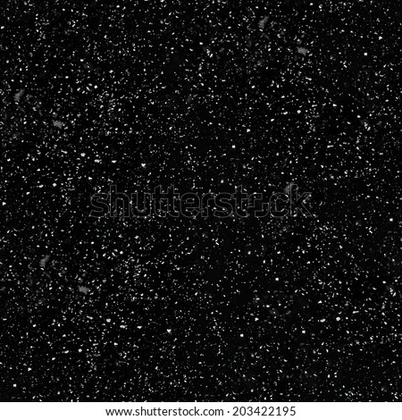Seamless Realistic Snow Texture on a black background - stock photo