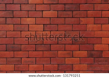 Seamless Red Brick Wall - stock photo