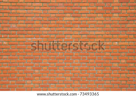 Seamless Red Brick Wall - Background Texture with Plenty of Copy Space - stock photo