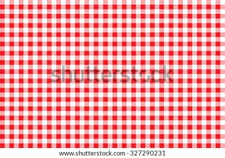 seamless red checkered tablecloth texture background - stock photo